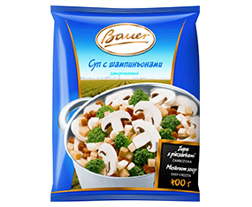 "Supă cu ciuperci congelată ""Bauer"", 400 g Суп с грибами замороженный ""Bauer"", 400 г"